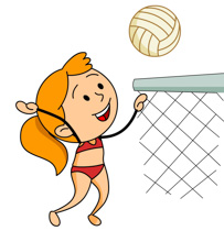 203x210 Volleyball pictures clip art clipart