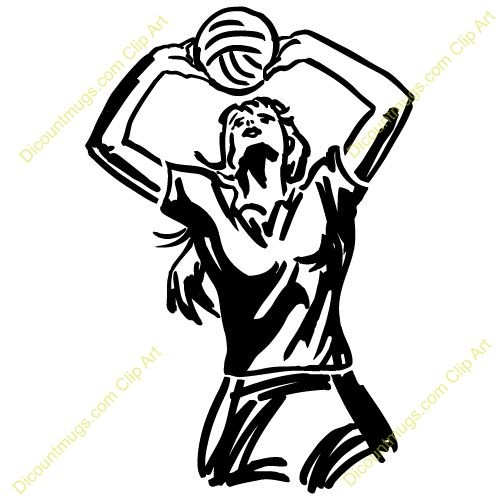 500x500 volleyball setter clipart
