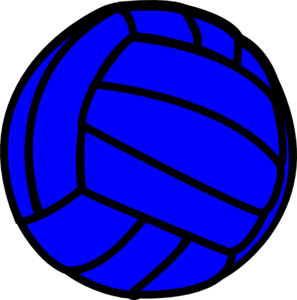 297x300 Blue clipart volleyball