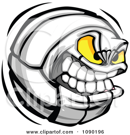450x470 Clipart Aggressive Volleyball Character
