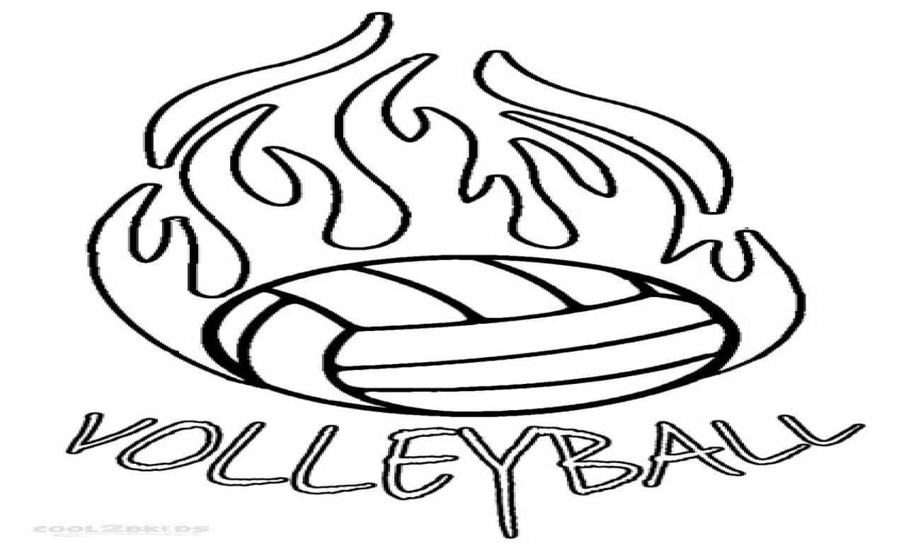 volleyball net coloring pages - photo#21