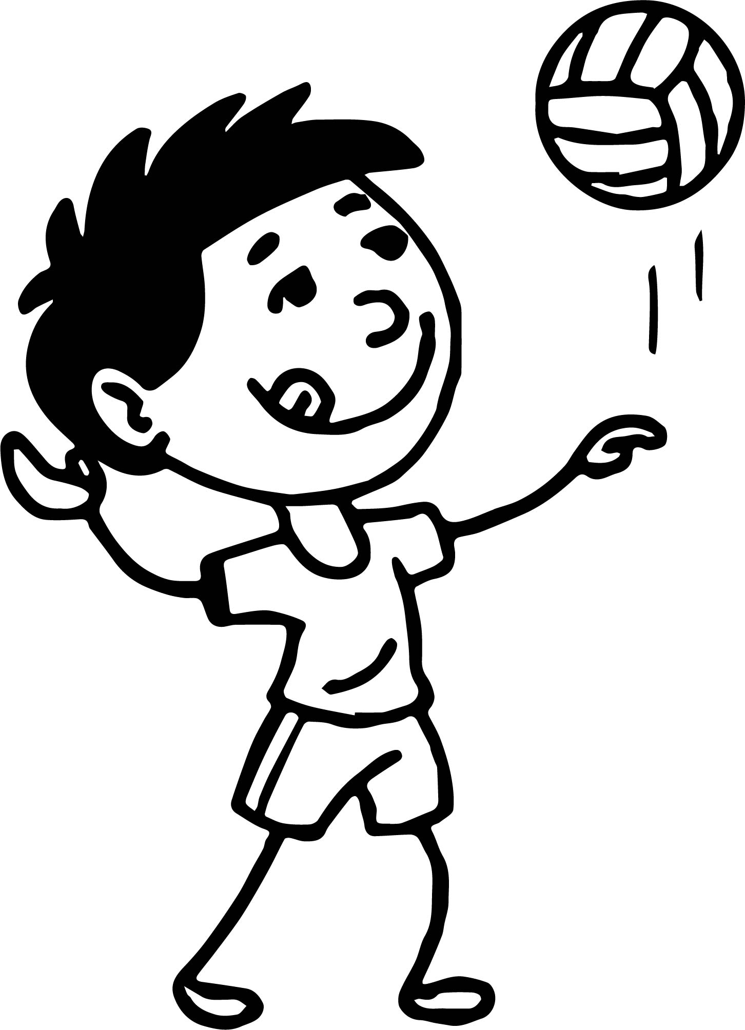 volleyball net coloring pages - photo#44