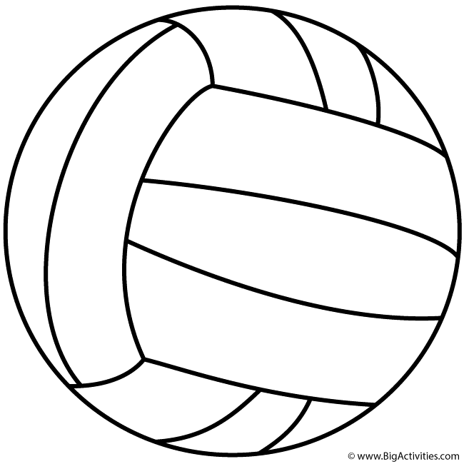 Volleyball Coloring Pages   Free download on ClipArtMag