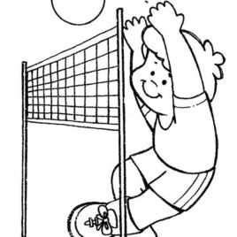 268x268 Volleyball Coloring Pages Volleyball To Color Volleyball Clip Art