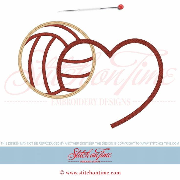 Volleyball Heart Clipart