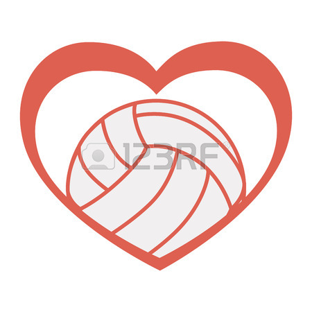 Volleyball Heart Clipart | Free download on ClipArtMag