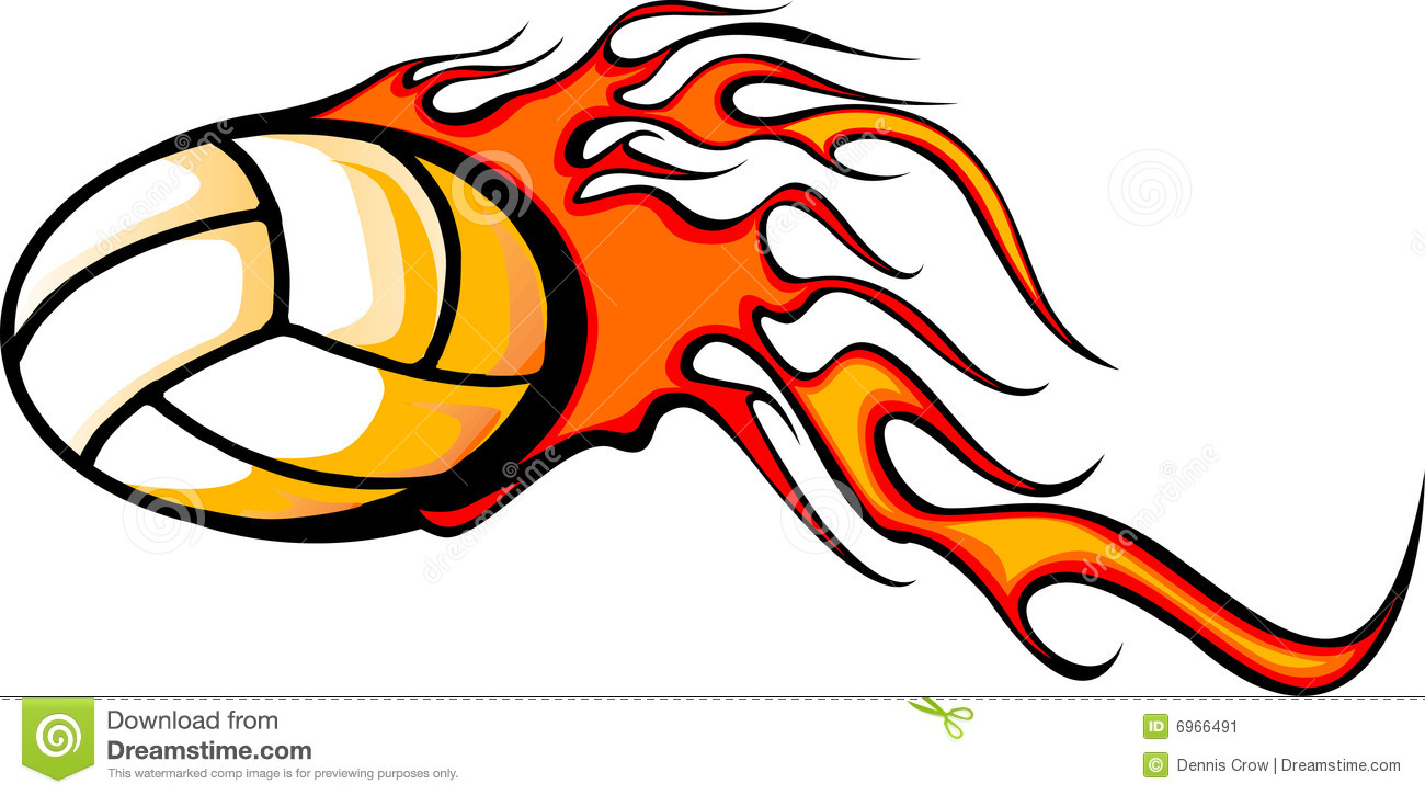 1300x725 Volleyball With Flames Clipart Amp Volleyball With Flames Clip Art