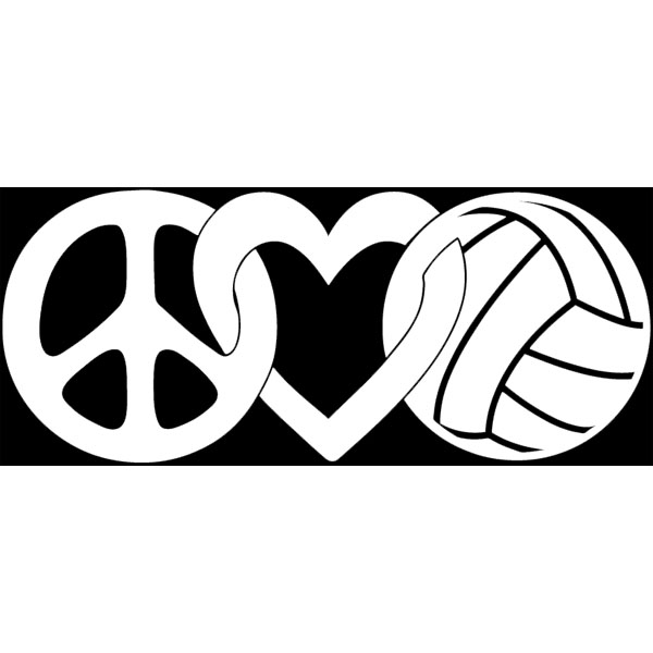 600x600 Volleyball Gifts Decals Peace Love Volleyball Jpg Volleyball