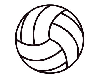 340x270 Volleyball Svg Volleyball Monogram Svg Svg Volleyball