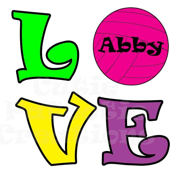 750x721 Girls Love Pink Volleyball Bat Mitzvah Logo