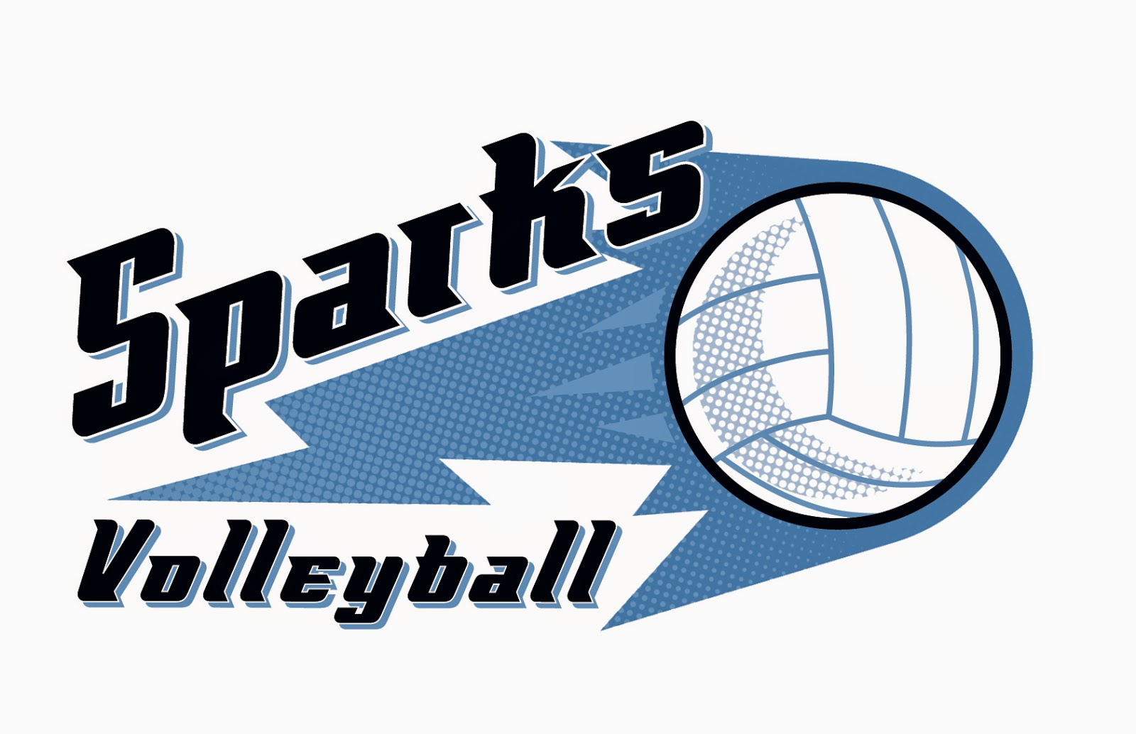 1600x1034 Scott Derby Illustration Sparks Volleyball Club Logo Design