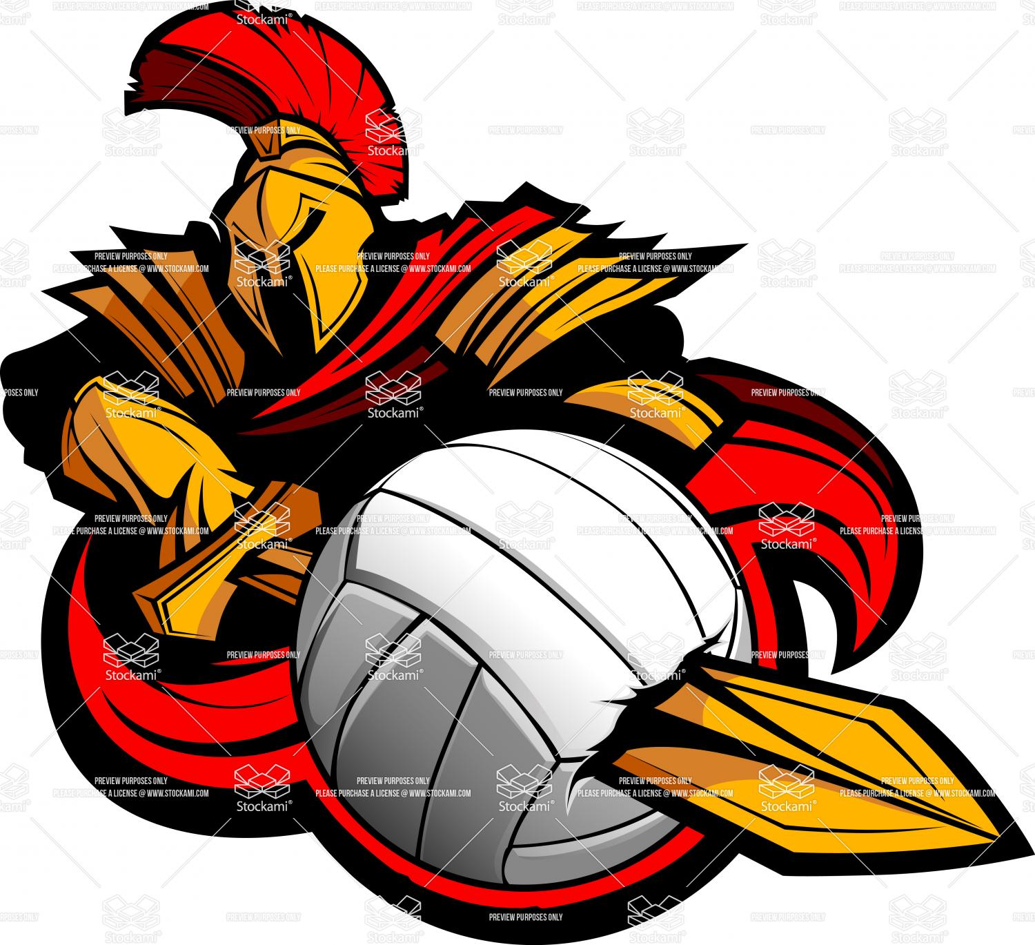 1500x1369 Spartans Volleyball Logo Clipart