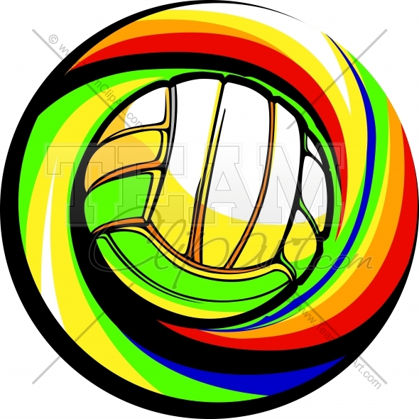 590x590 Volleyball Logo Clipart Image. Easy To Edit Vector Format.
