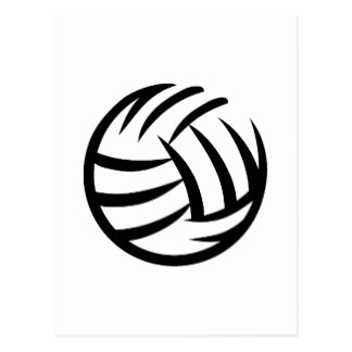 324x324 Volleyball Logo Postcards Zazzle