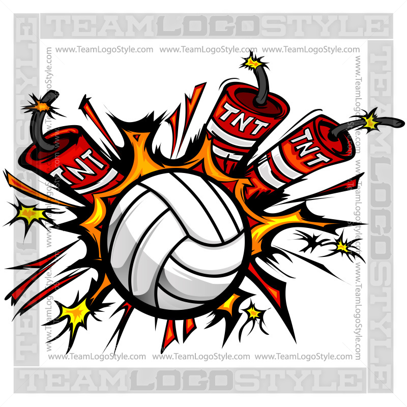 800x800 Dynamite Volleyball Logo