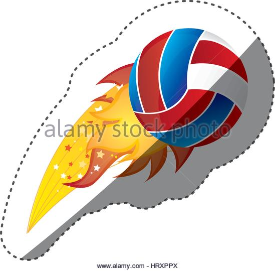549x540 Volleyball Ball Fire Game Stock Photos Amp Volleyball Ball Fire Game