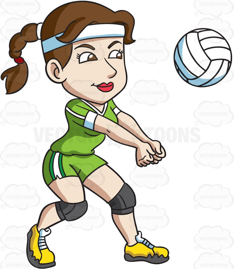 893x1024 A Female Volleyball Player Hits A Ball With Her Forearms Female