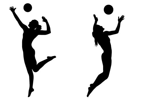 500x350 Best Volleyball Player Silhouette Clipat