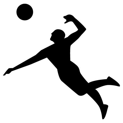 500x500 Best Volleyball Player Silhouette Clipat