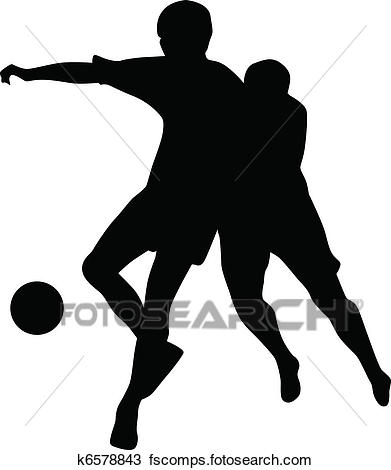 391x470 Clipart Of Football Player Silhouette Vector K6578843