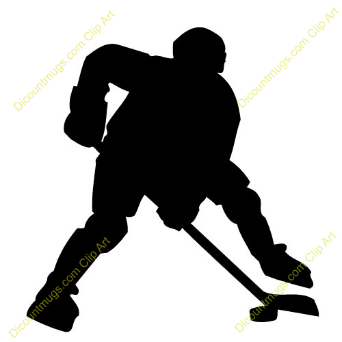 500x500 Hockey Player Silhouette Clipart