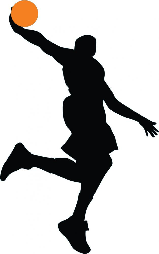 626x1000 Silhouette Vector Illustration Of Girl In Air Going
