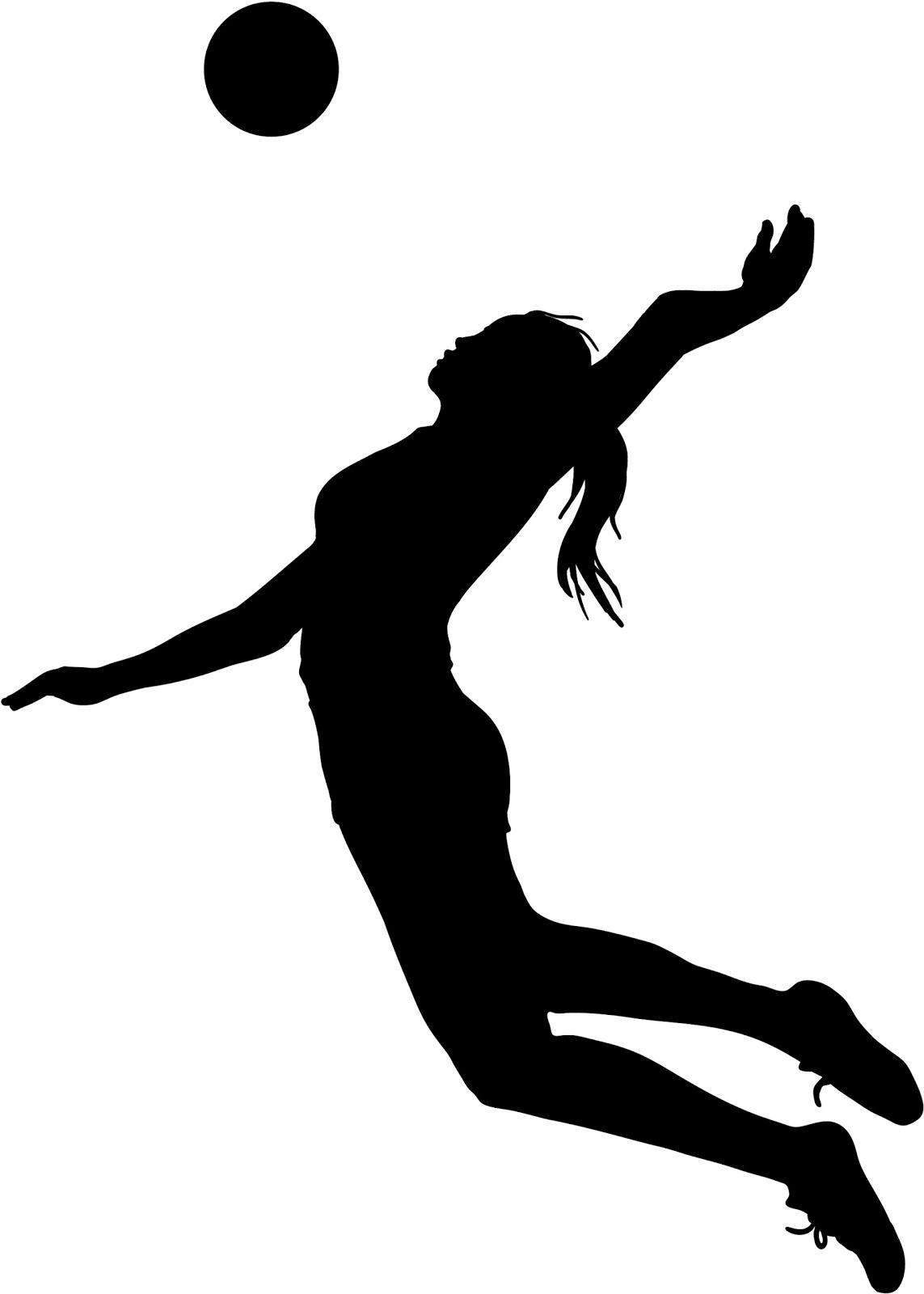 1143x1600 Top Volleyball Player Silhouette Clipart Library