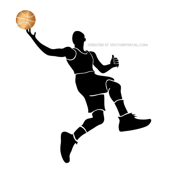 660x660 Basketball Player Silhouette Vector
