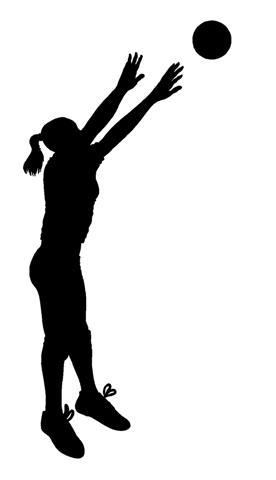 276x480 Volleyball Silhouette Clipart