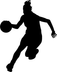 236x298 Basketball Female Silhouettes