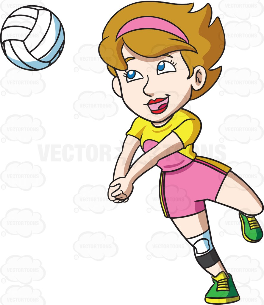 Volleyball Players Clipart