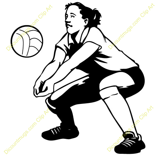 500x500 Volleyball Clipart