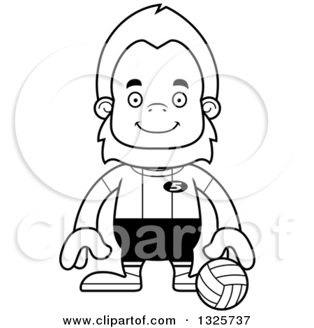 450x470 Player Cartoon Clipart Outline