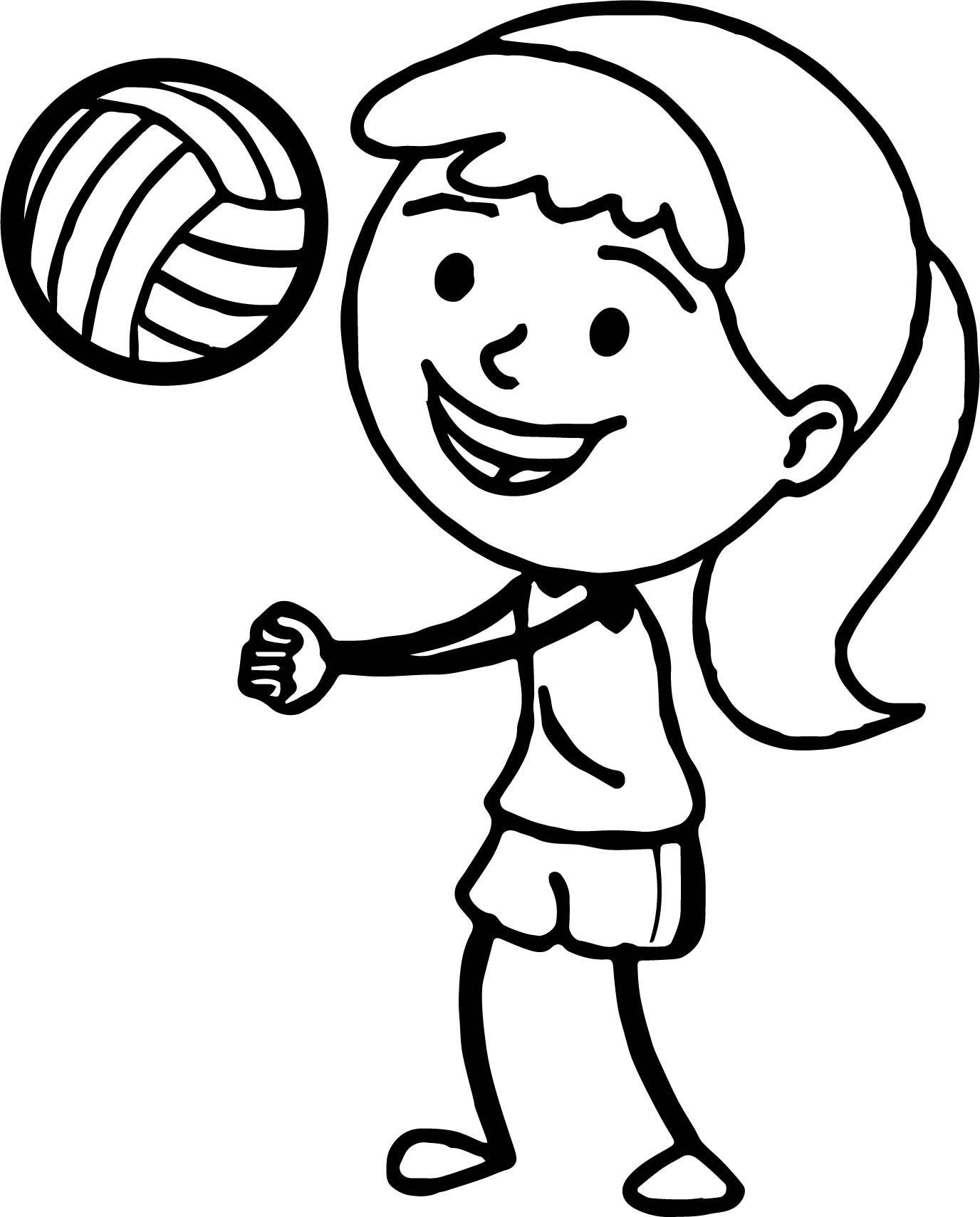volleyball coloring pages printable - volleyball printable free download best volleyball