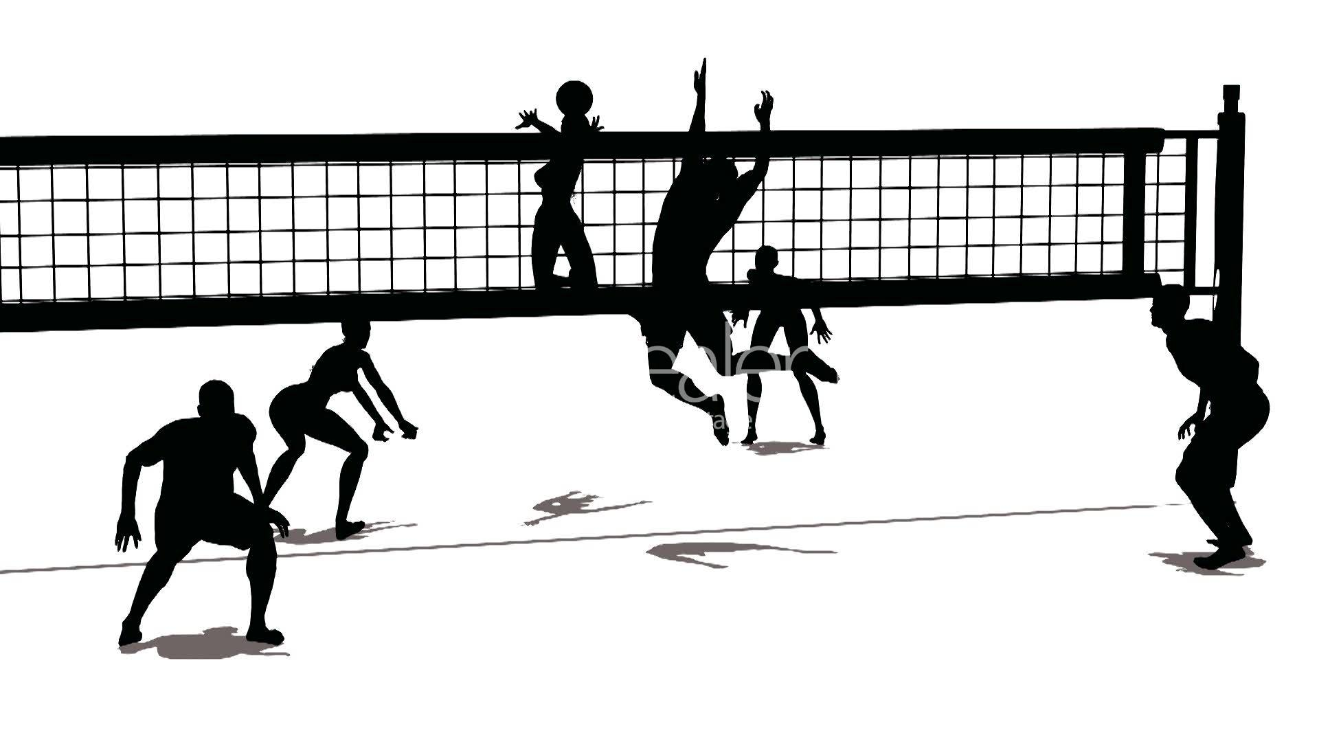 Abstract Triangle Volleyball Player Silhouette Stock: Free Download Best Volleyball