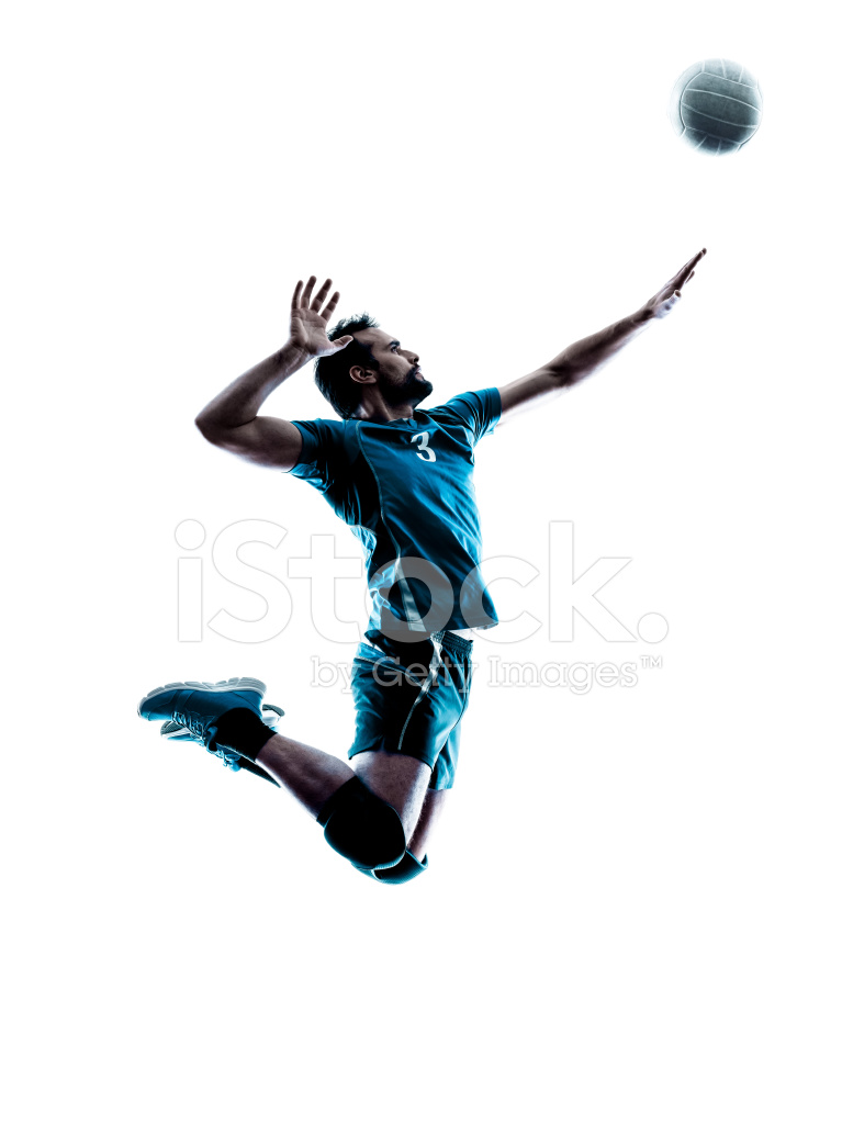 767x1024 Man Volleyball Jumping Silhouette Stock Photos