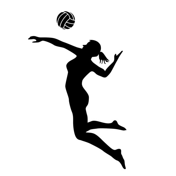 Volleyball Spike Silhouette   Free download best ...