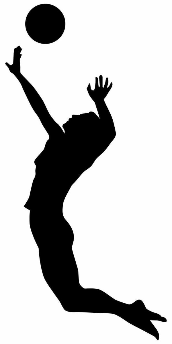 Volleyball Spike Silhouette | Free download best ...