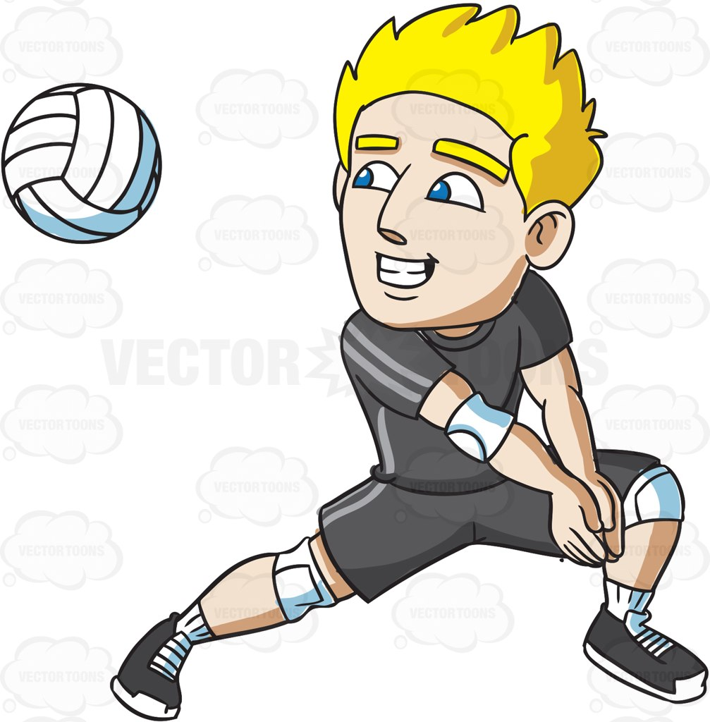 1007x1024 A Male Volleyball Player Preparing For A Forearm Pass Volleyball