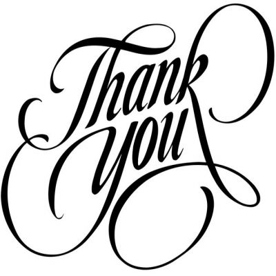 400x400 Thank You Black And White Thank You Clip Art Free Clipart Images 7