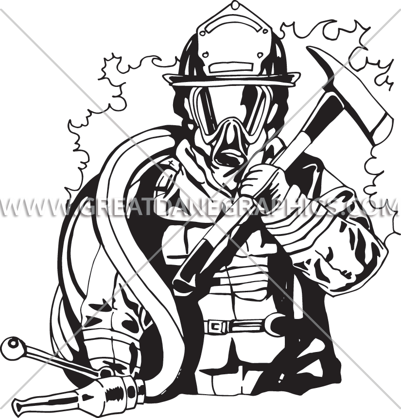 825x861 Volunteer Fire Fighter Production Ready Artwork For T Shirt Printing