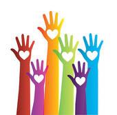 170x167 Clipart Of Hands Volunteering Or Voting. K6659243