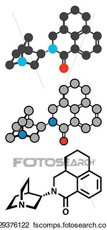 220x470 Clipart Of Palonosetron Nausea And Vomiting Drug Molecule. 5 Ht3