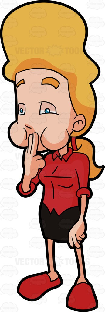 346x1024 A Woman Stopping Herself From Vomiting Cartoon Clipart