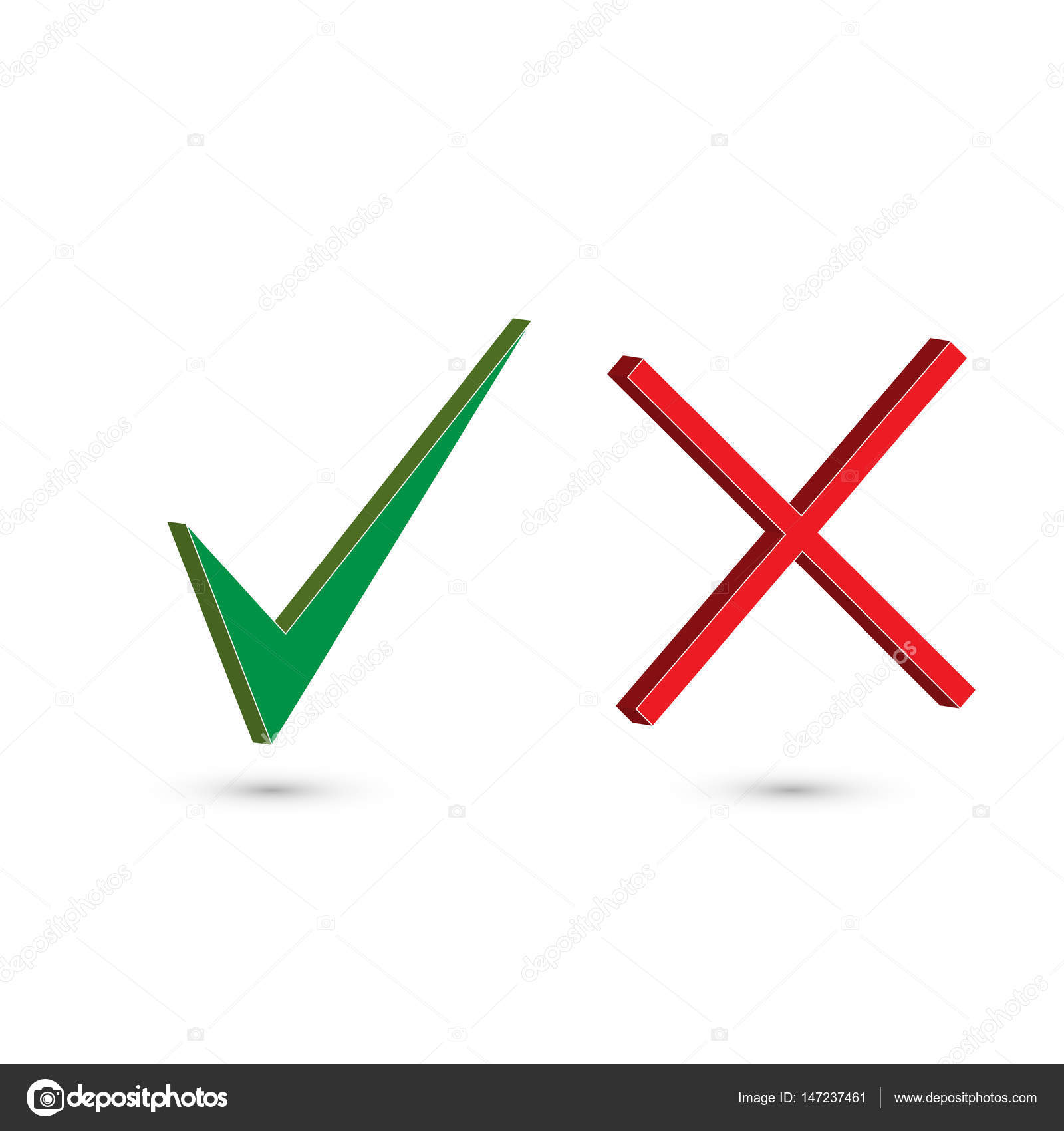 1600x1700 Check Mark Stickers. Set Of Two Simple Web Buttons Green Check
