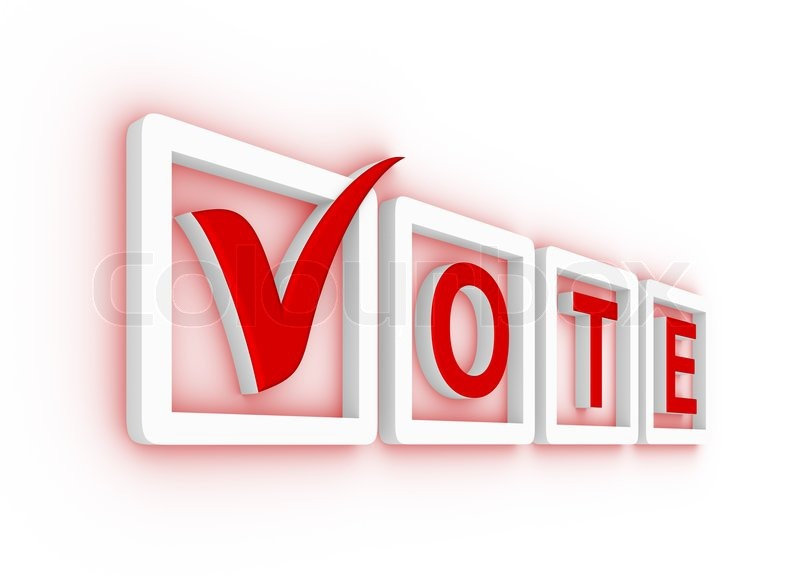 800x575 Vote With Check Mark And Check Boxes Stock Photo Colourbox