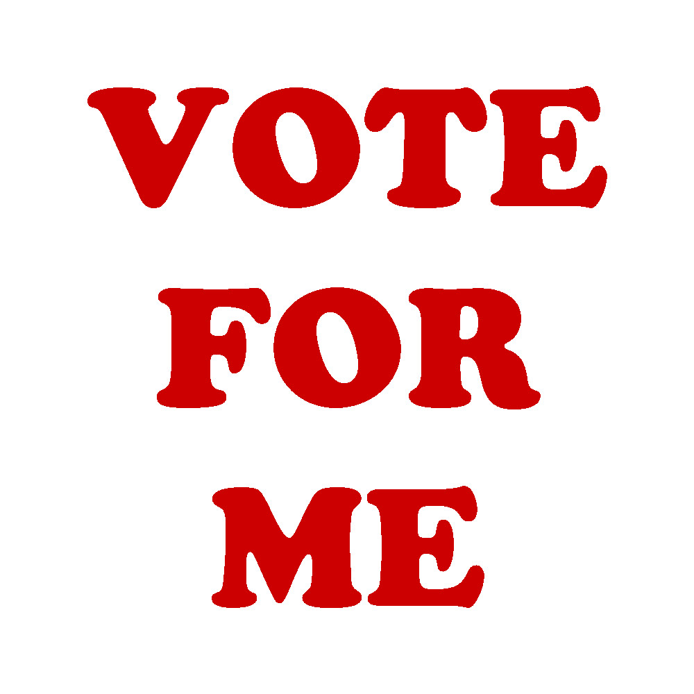 1000x1000 Vote For Me Clipart