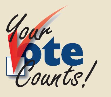 386x337 Your Vote Counts Clipart