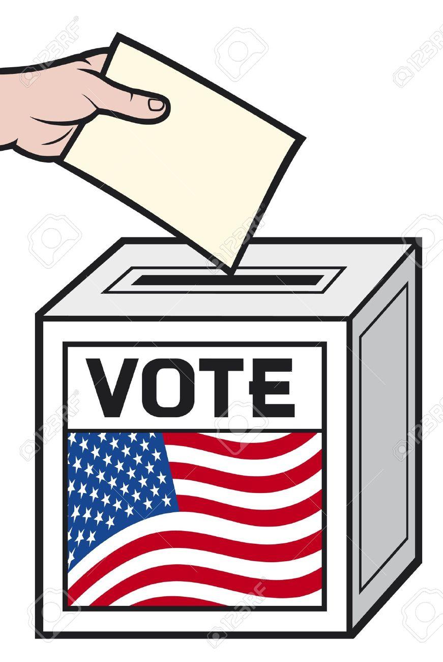 871x1300 America Vote Clipart