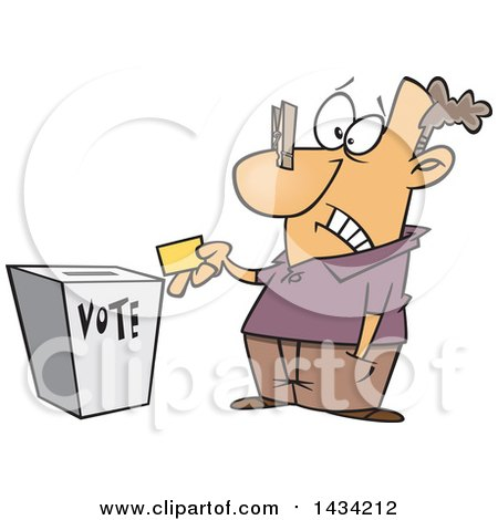 450x470 Royalty Free (Rf) Clipart Of Voters, Illustrations, Vector Graphics